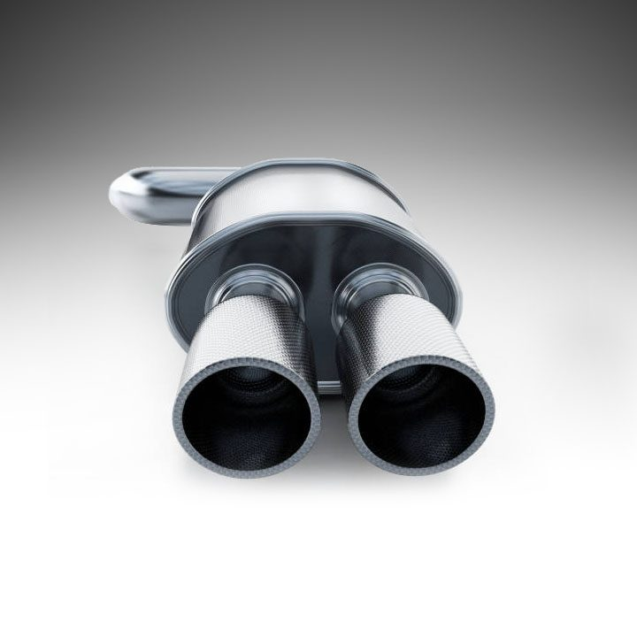 3D illustration of a generic sports exhaust manifold isolated on white.